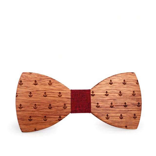 Men's Handmade Patterned Wooden Bowtie
