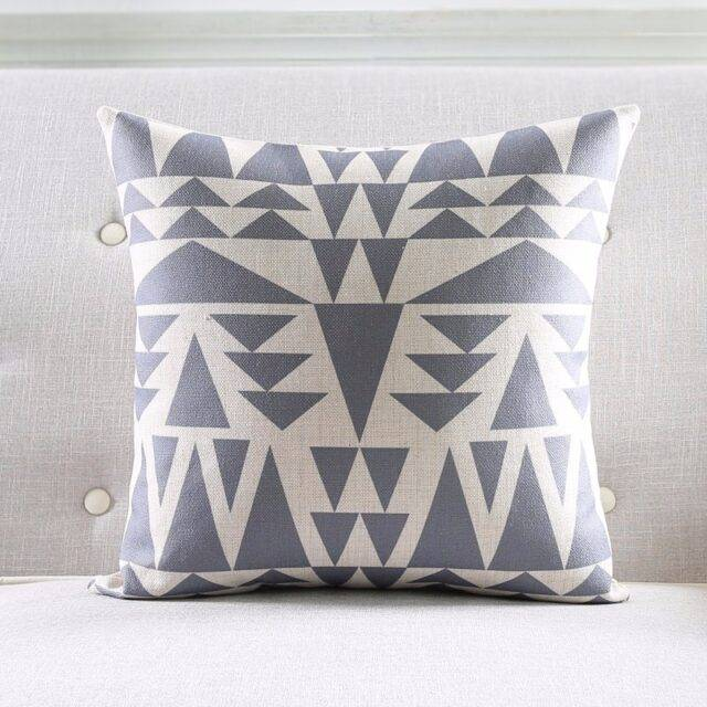 Decorative Cushion Cover in Geometric Style