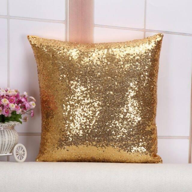 Glittering Square Decorative Cushion Cover