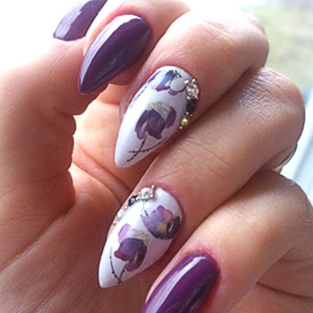 Flower Water Transfer Nail Art Stickers & Decals