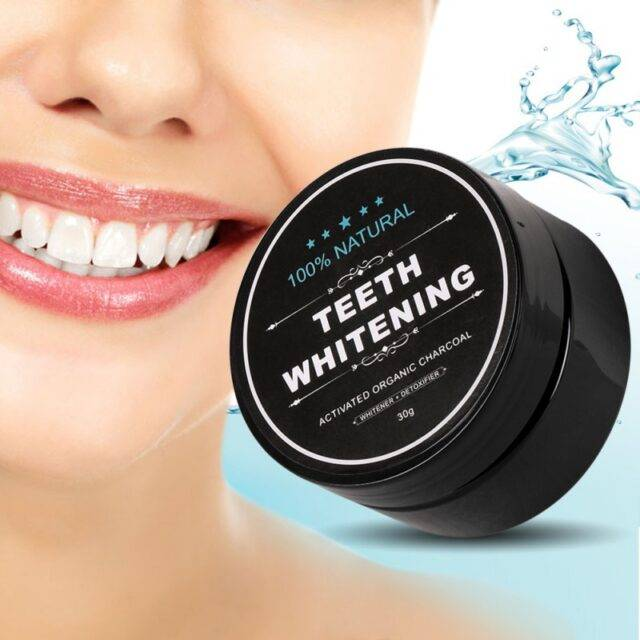 Black Teeth Whitening Organic Powder For Regular Use