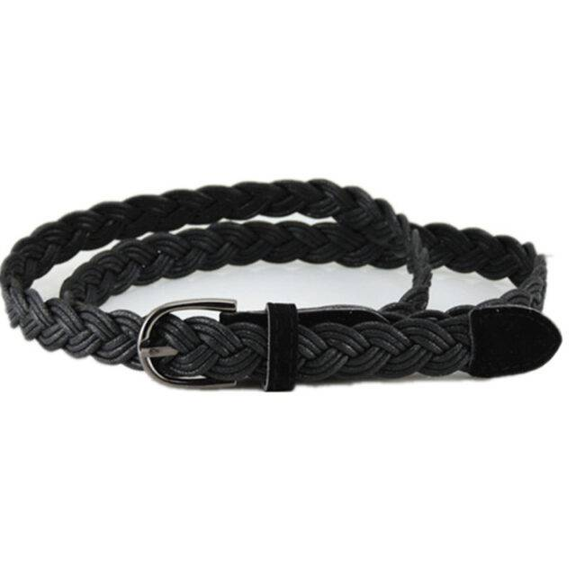 Women's Rope Braided Leather Belt