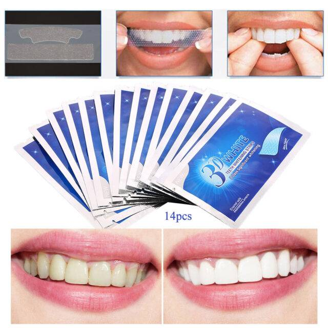 14 Pairs of Crest 3D Whitening Teeth Strips For Brighter Smile