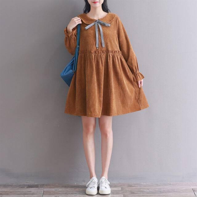 Women's Loose Fit & Flare Sleeve Knee Length Dress
