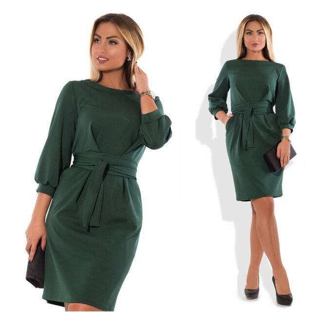 Women's Classic Plus Size Midi Dress