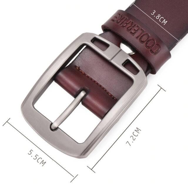 100% Men's Genuine Pure Leather Belt