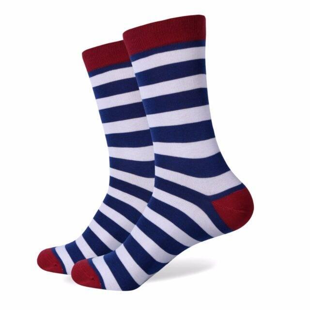 Set Of 5 Pairs Colorful Printed Cotton Men's Socks