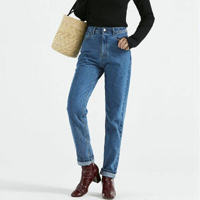 Women's High Waisted Pencil Fit Casual Jeans
