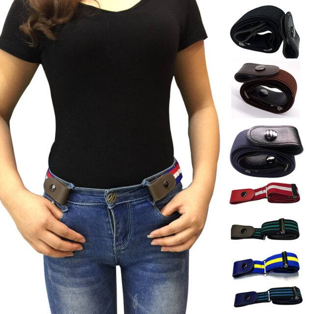 Women's Elastic Stretch Belt Without Buckle