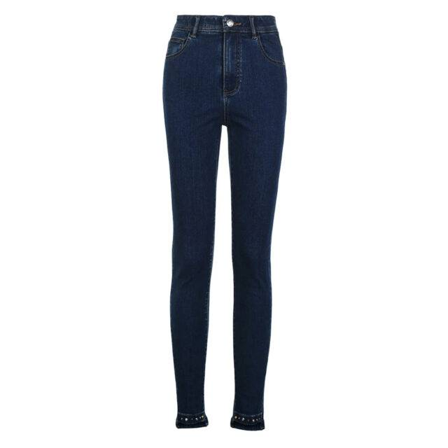 Women's Summer High Waisted Skinny Cropped Jeans
