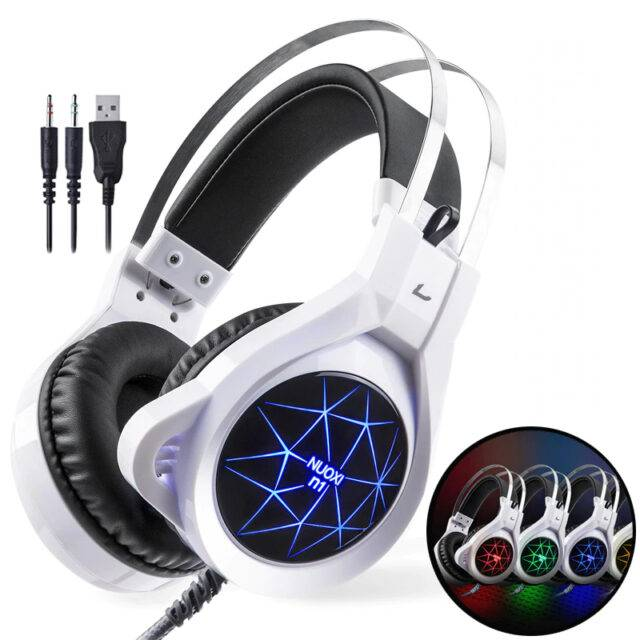 LED Gaming Headphones with Microphone