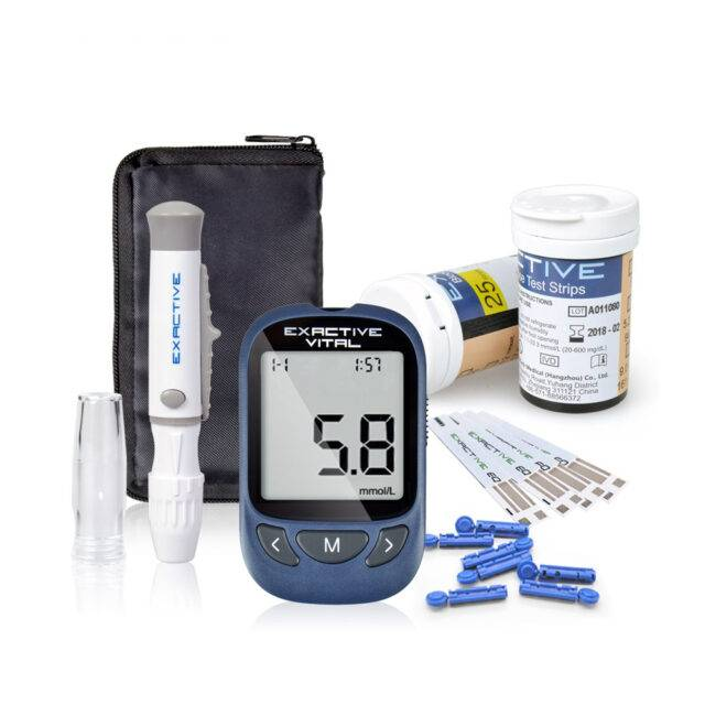 Blood Sugar Monitor Kit with 50 Test Strips and 50 Needles