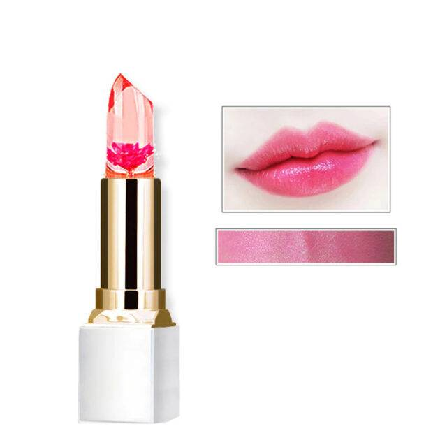 Transparent Natural Flower Color Change Jelly Lipstick